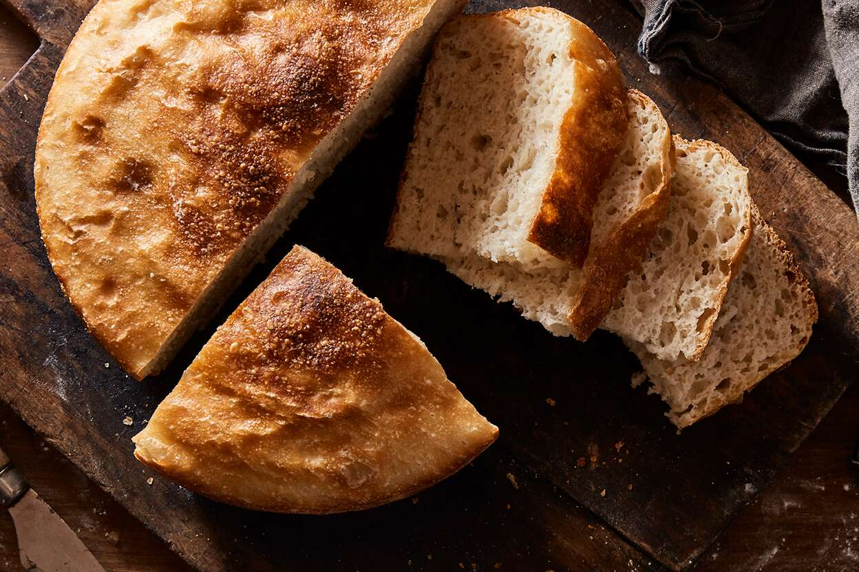 Absolutely No-Knead Crusty-Chewy Bread