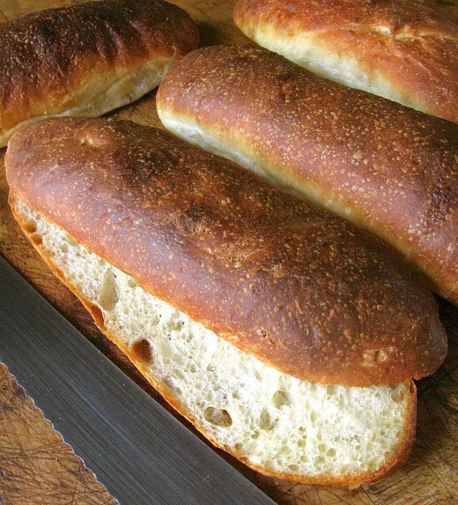 No-Knead Chewy Sandwich Rolls   King Arthur Flour