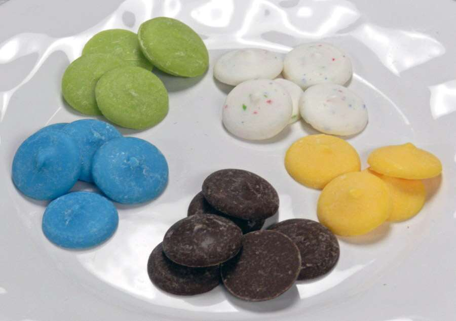 "All the colors above are vanilla flavored; the brown one ""contains real cocoa."""