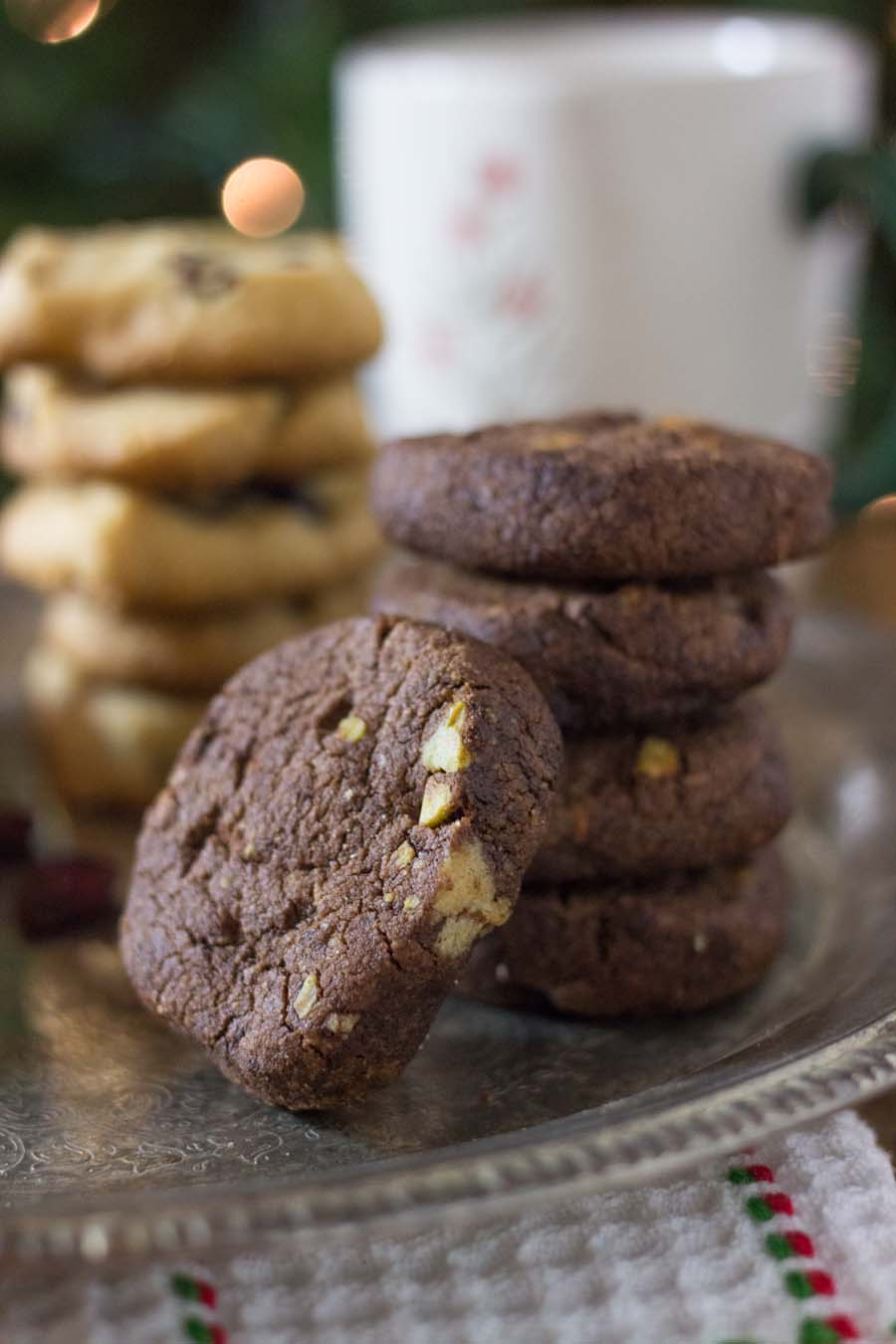 Chocolate-Pistachio Almond Flour Shortbread Cookies
