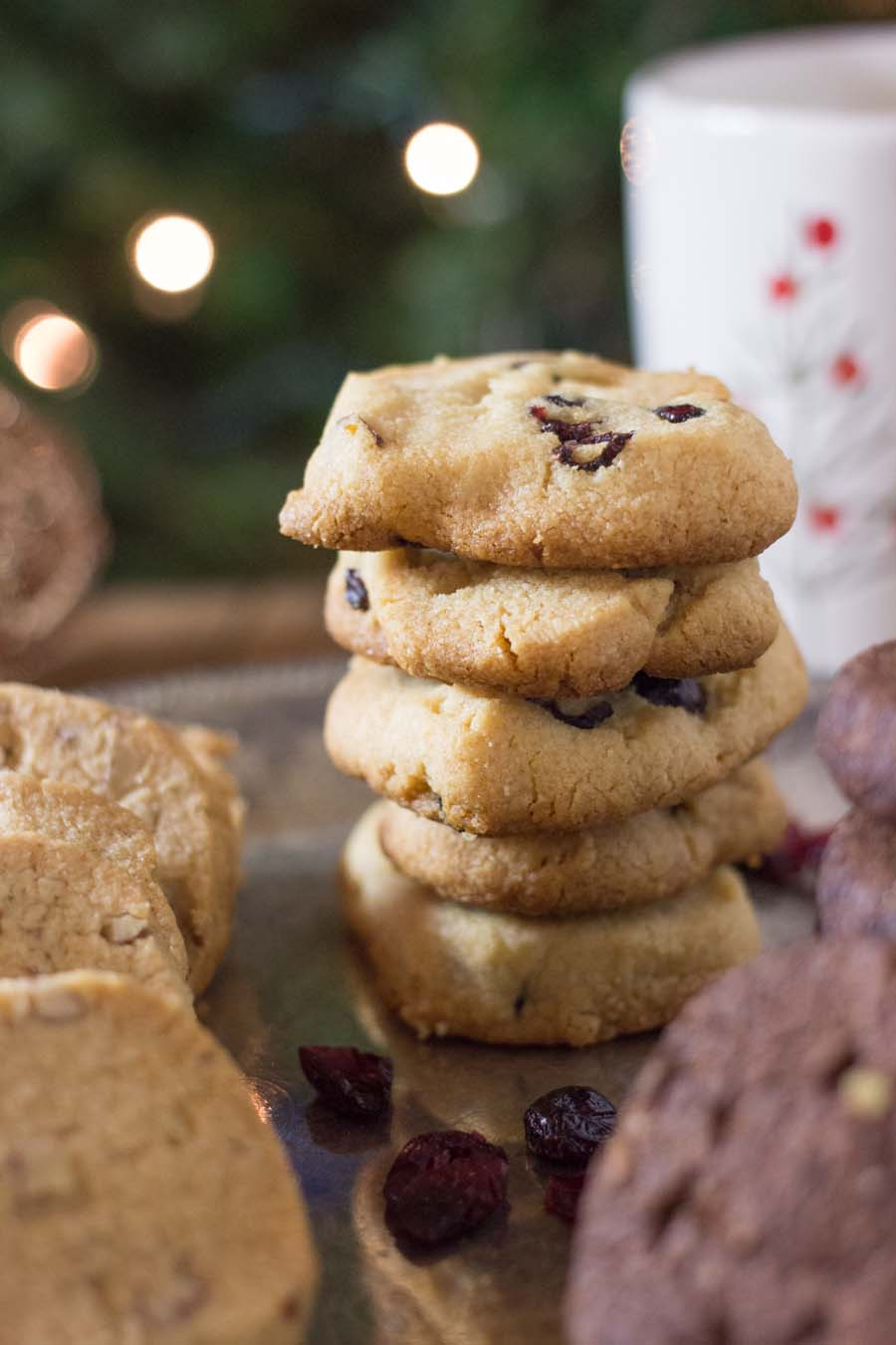 Cranberry-Orange Almond Flour Shortbread Cookies