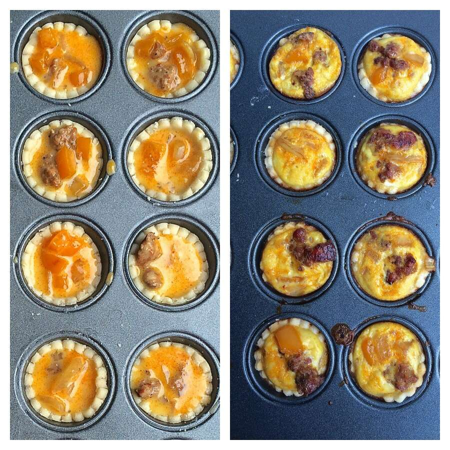 sausage-pepper-quiches