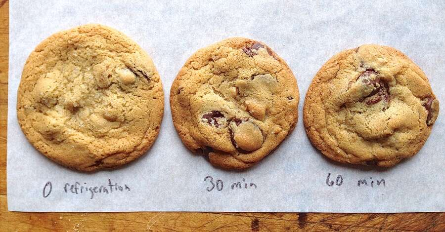 Results: chilling cookie dough via @kingarthurflour