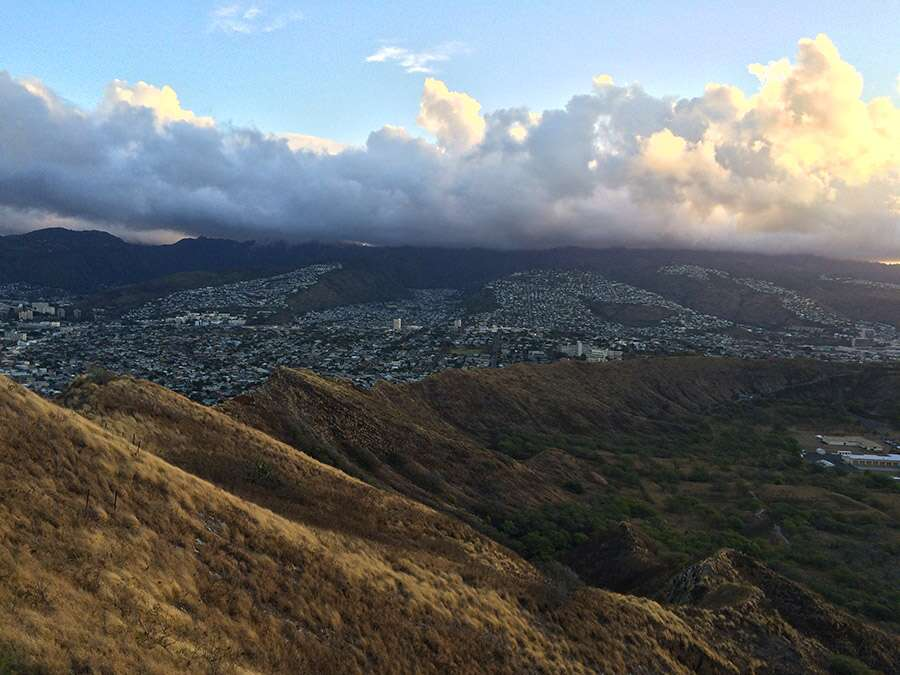 View from the top of Diamond Head.