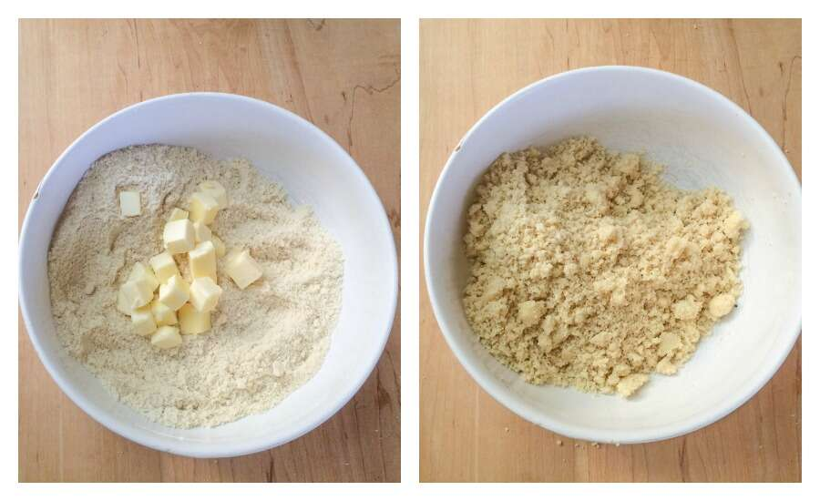How to make a simple Almond Flour Crust via @kingarthurflour