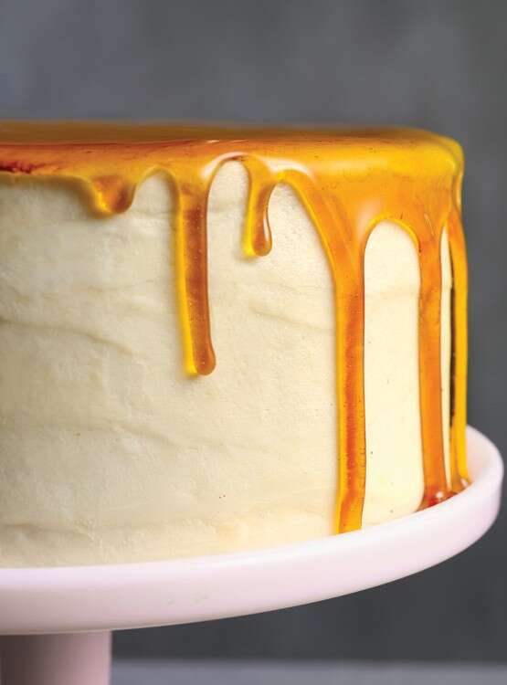 Caramel Cake via @kingarthurflour
