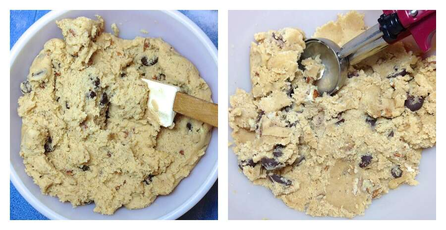 Test: chilling cookie dough via @kingarthurflour