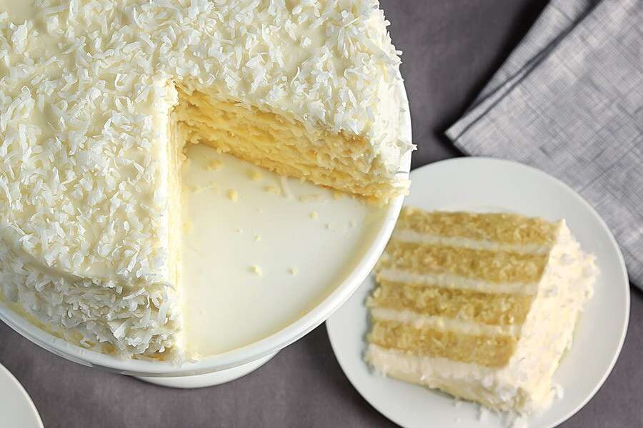Coconut Cake via @kingarthurflour
