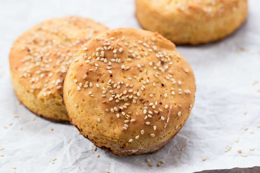 Gluten-Free Hamburger Buns via @kingarthurflour