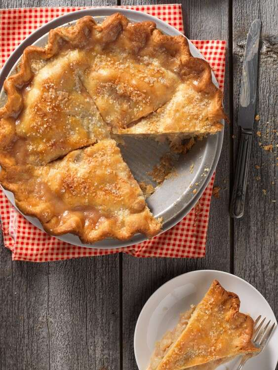 Double crust pie via @kingarthurflour