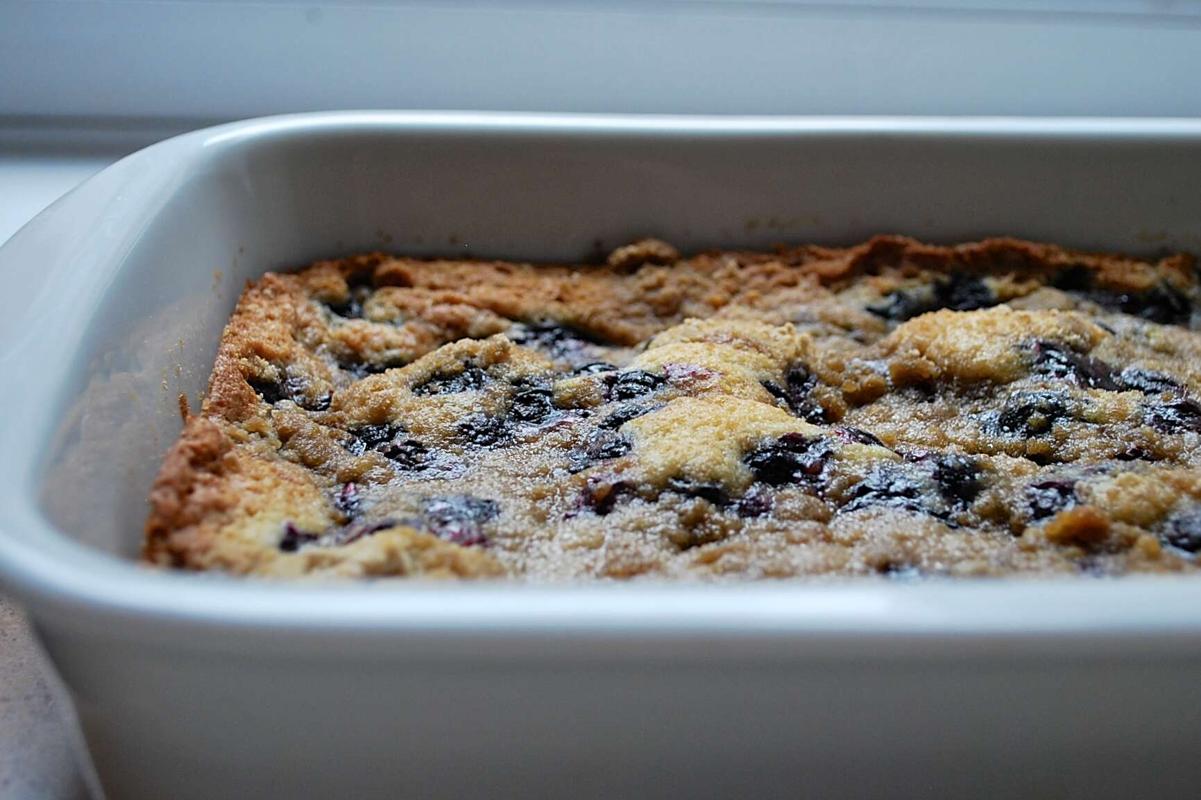 Blueberry Buckle via @kingarthurflour