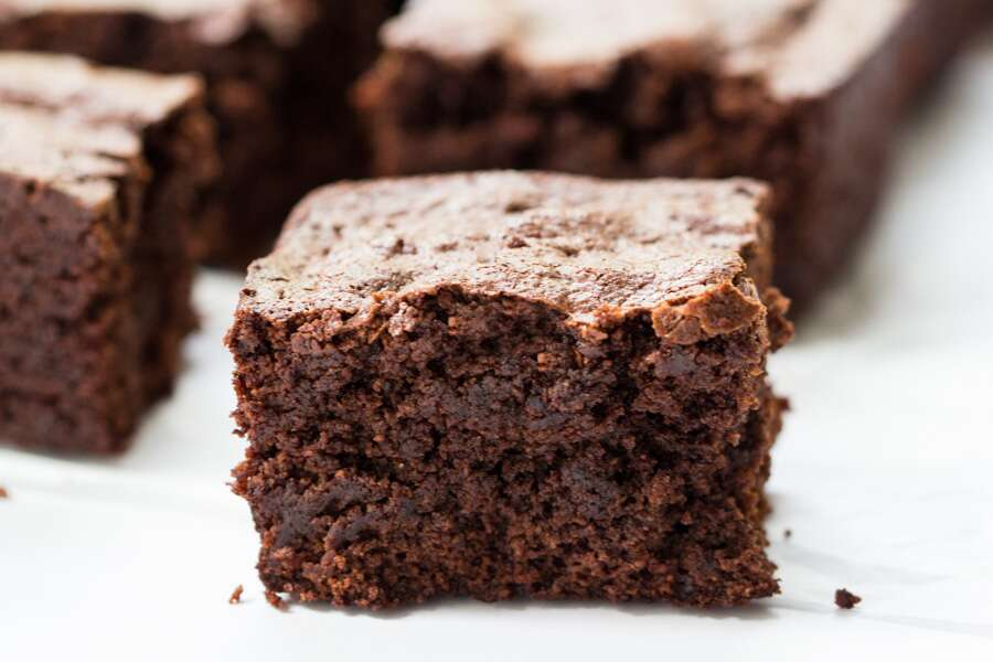 Almond Flour Brownies via @kingarthurflour