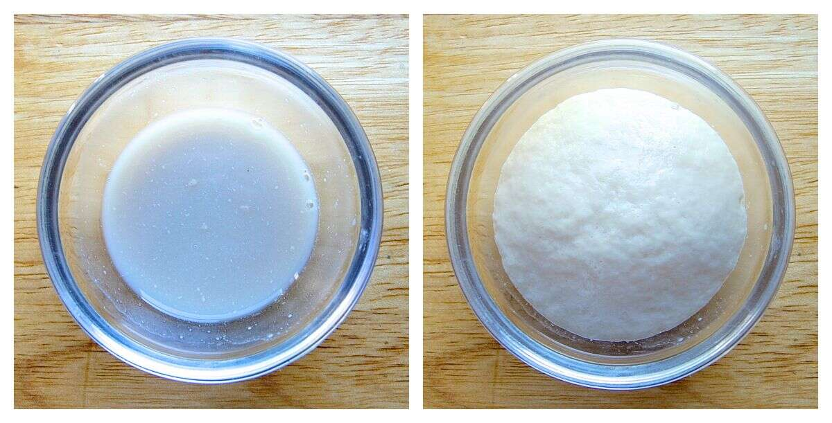 Dissolving active dry yeast via @kingarthurflour