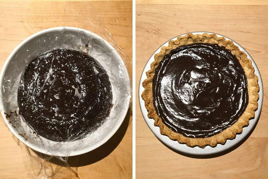 Gluten-Free Chocolate Cream Pie via @kingarthurflour