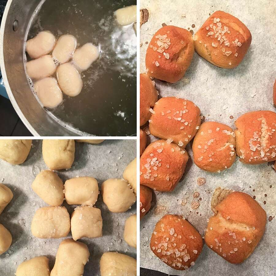 How to make gluten-free soft pretzel bites via @kingarthurflour