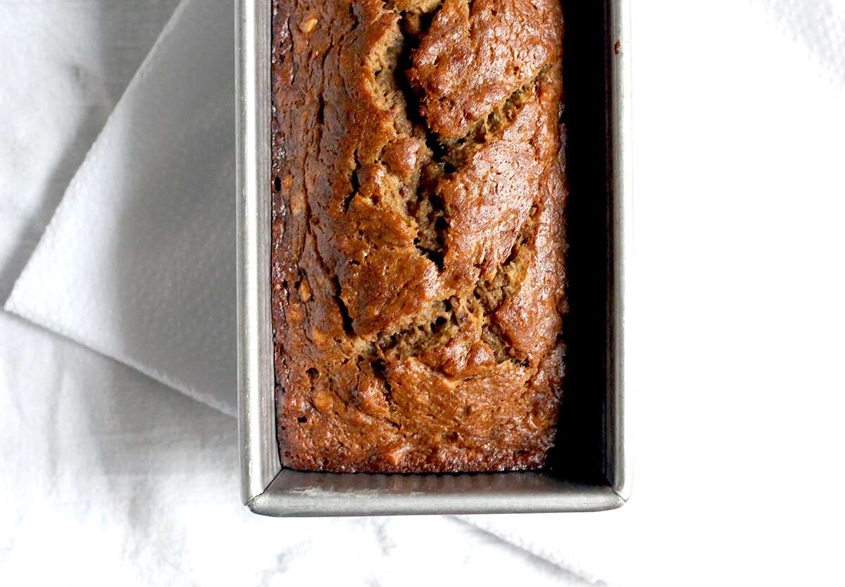 Banana bread via @kingarthurflour
