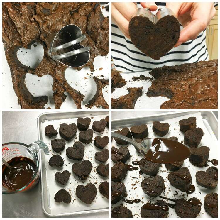 How to make Valentine Hearts via @kingarthurflour
