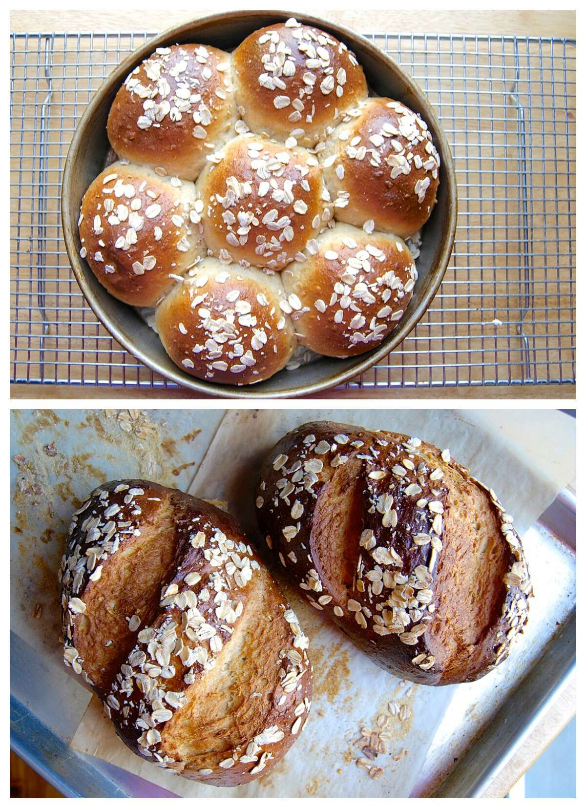 Whole-Grain Dinner Rolls via @kingarthurflour