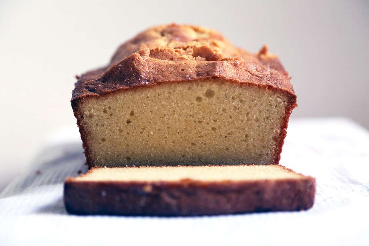 Pound cake via @kingarthurflour