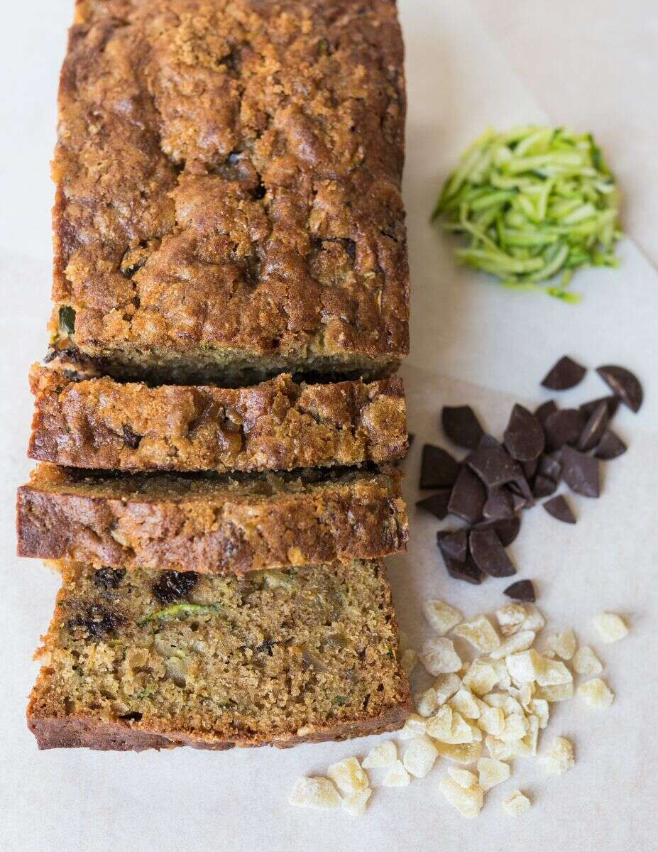 Simple zucchini bread ginger variation via @kingarthurflour