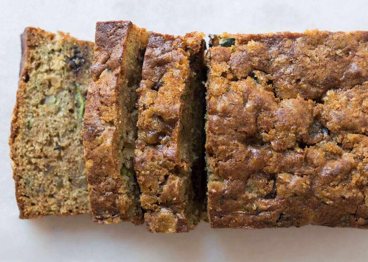 Simple zucchini bread via @kingarthurflour