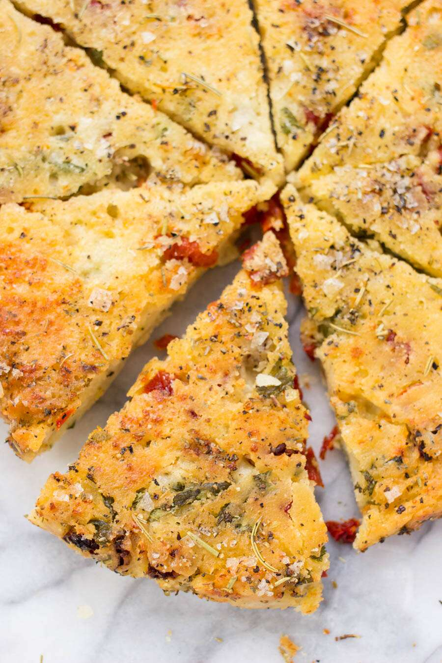 Filled Gluten-Free Focaccia Bread via @kingarthurflour