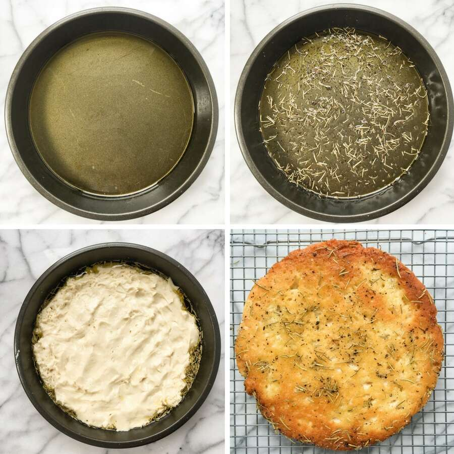 How to make gluten-free focaccia bread via @kingarthurflour