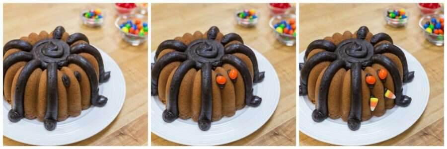 How to make Halloween Spider Bundt via @kingarthurflour