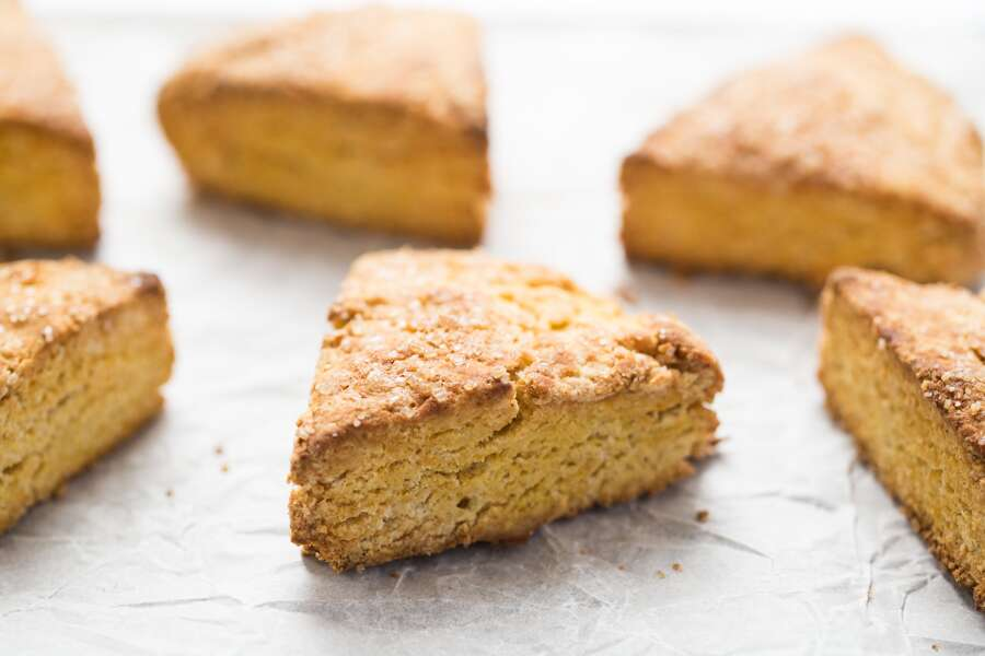Gluten-Free Pumpkin Scones via @kingarthurflour