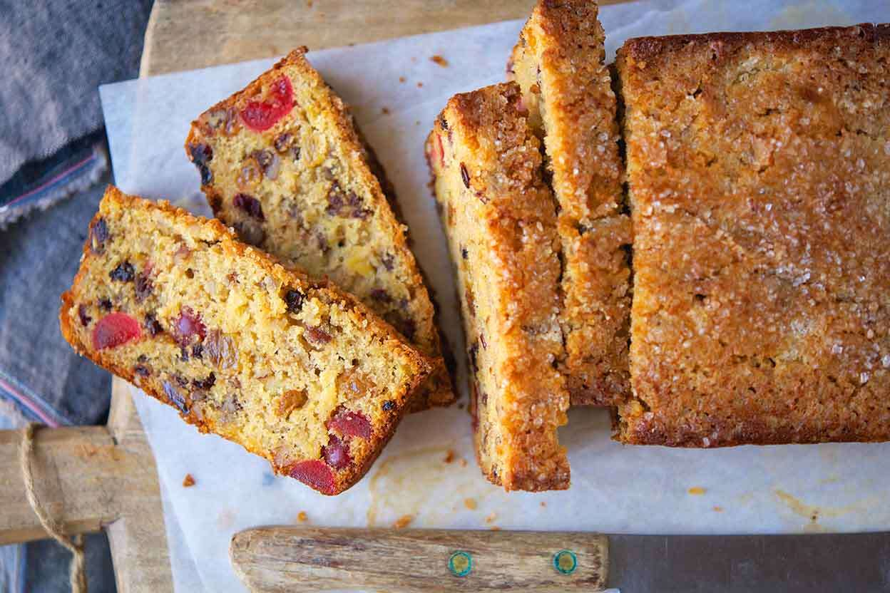 Fruitcake timeline via @kingarthurflour