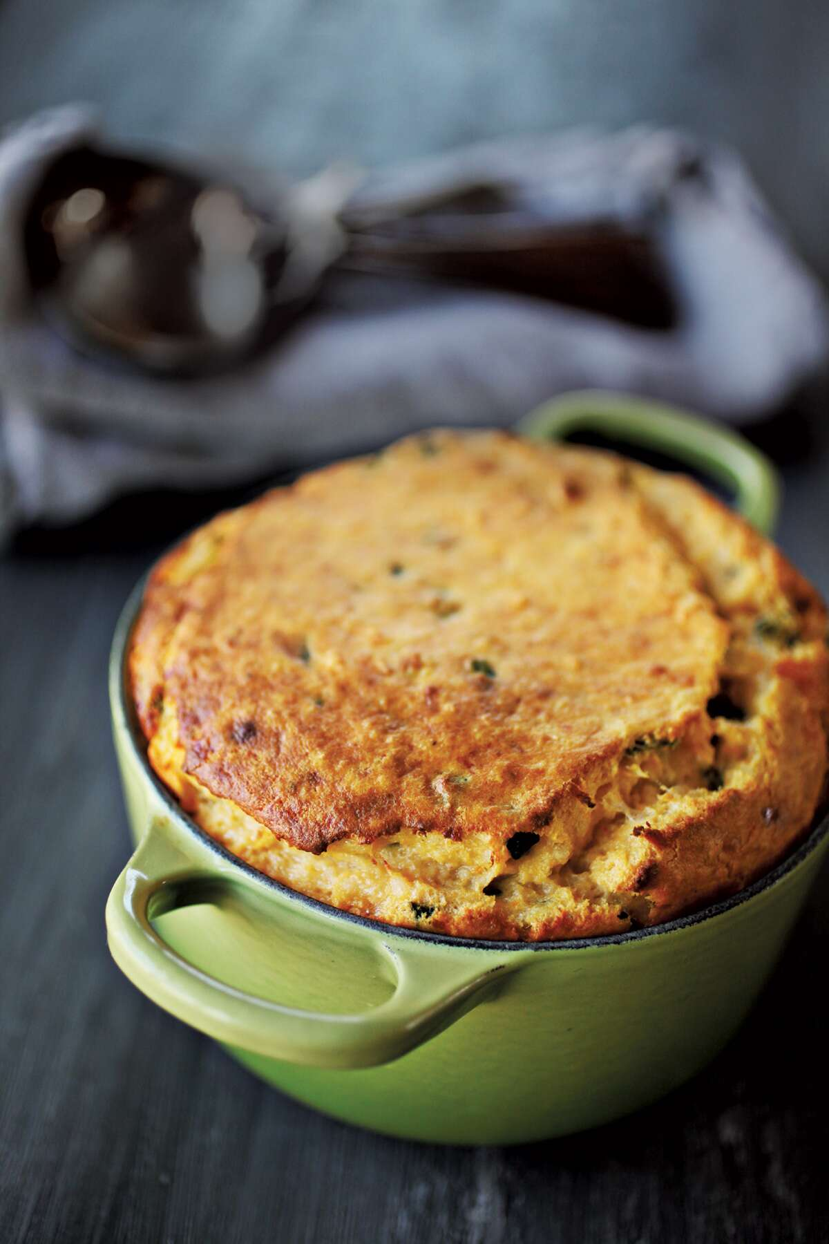Smoked Gouda Spoonbread via @kingarthurflour