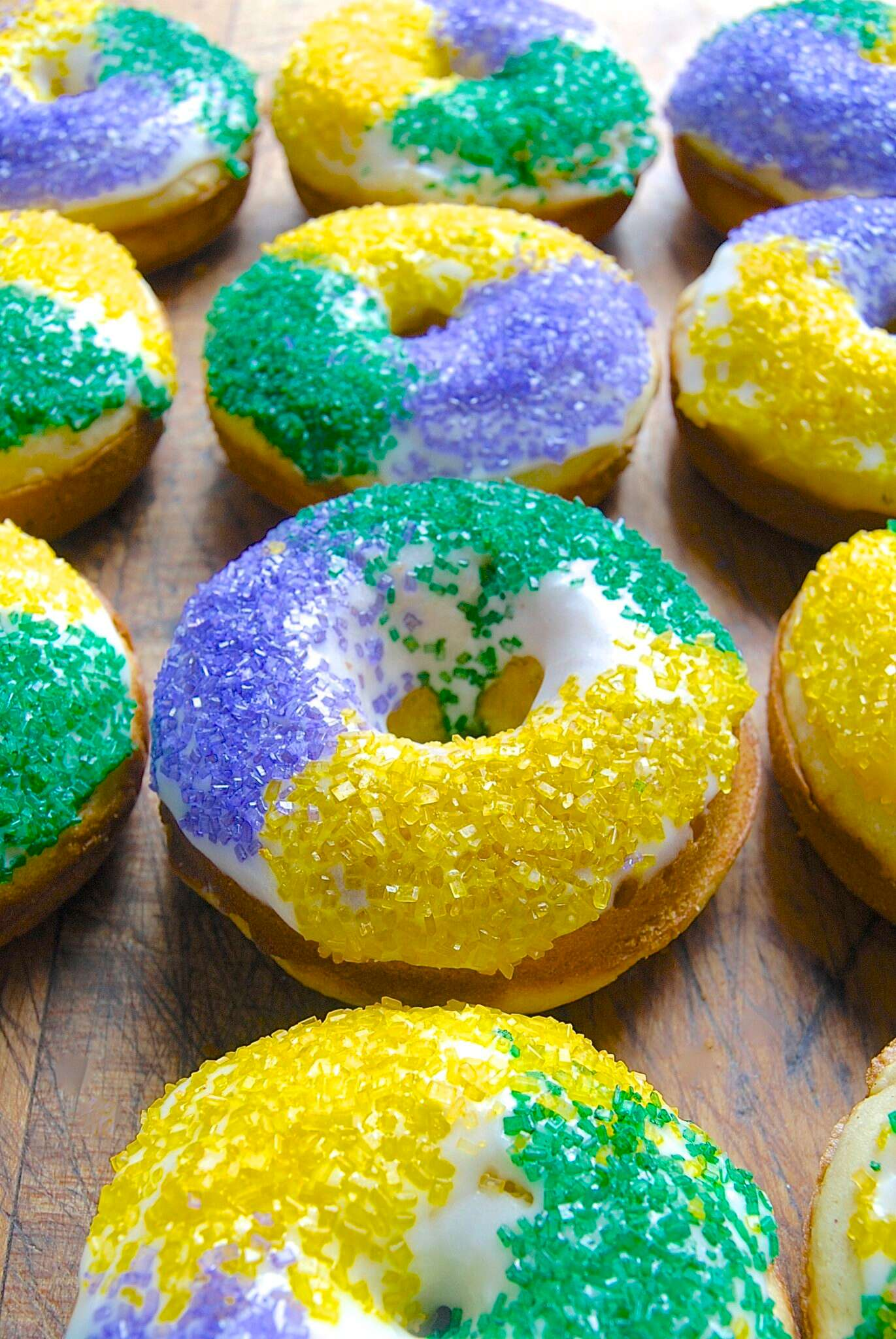 King Cake Doughnuts via @kingarthurflour