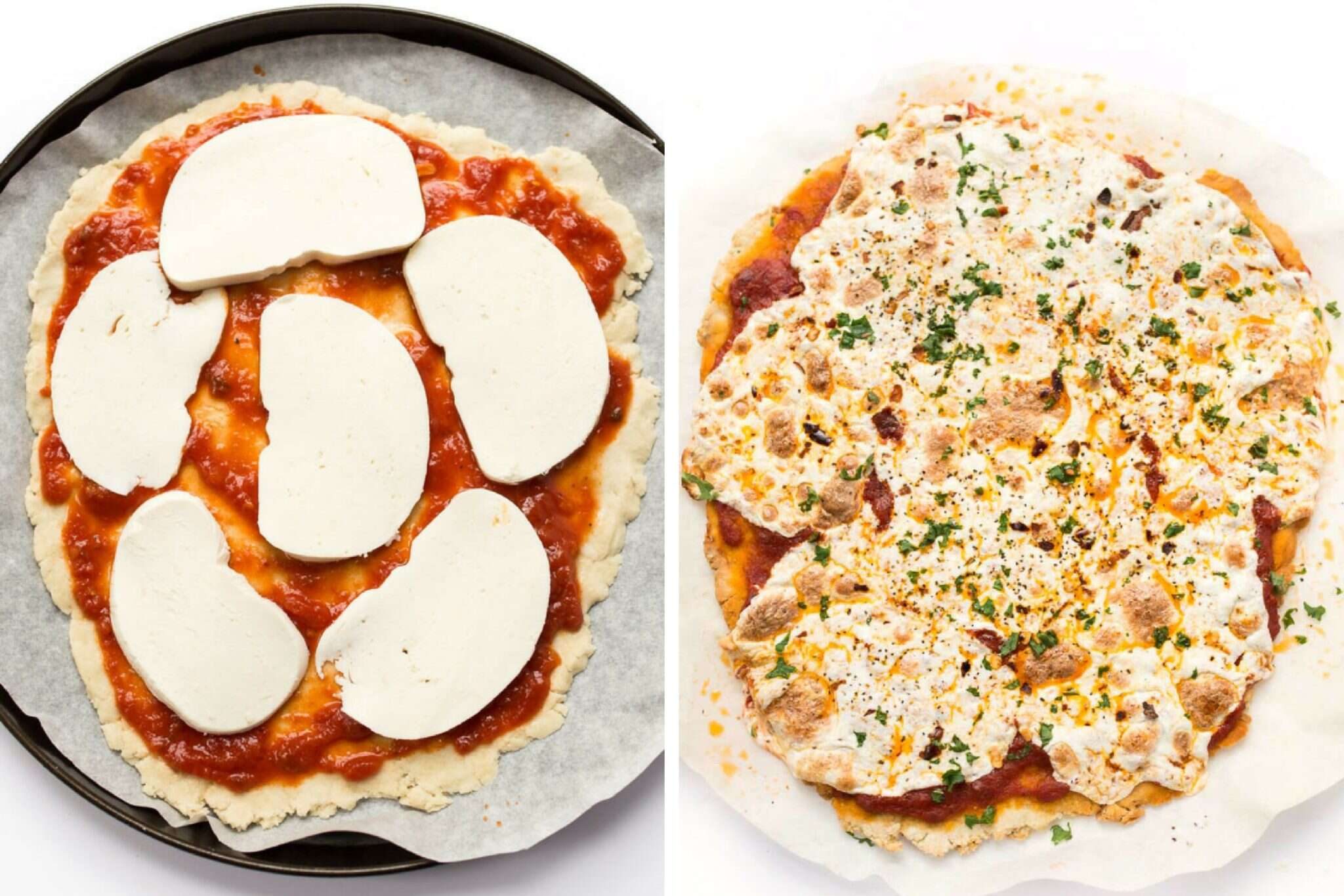 How to make Gluten-Free Thin-Crust Pizza via @kingarthurflour