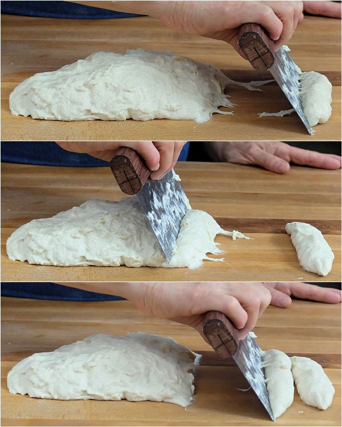 Kneading wet dough by hand via @kingarthurflour