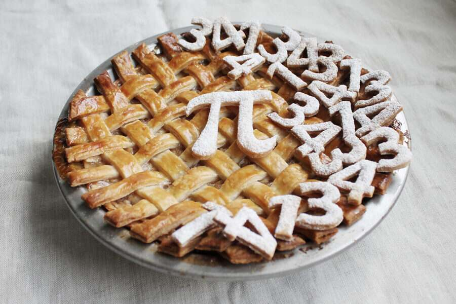 Steps for making Pi day pie via @kingarthurflour
