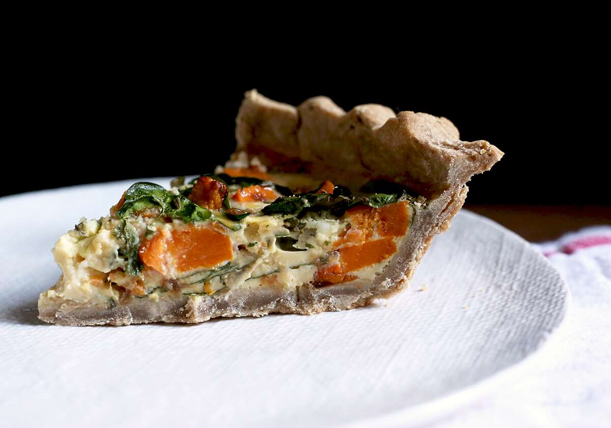 How to make teff flour quiche via @kingarthurflour