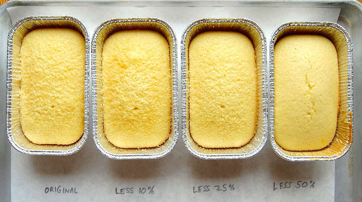 How to reduce sugar in cake via @kingarthurflour