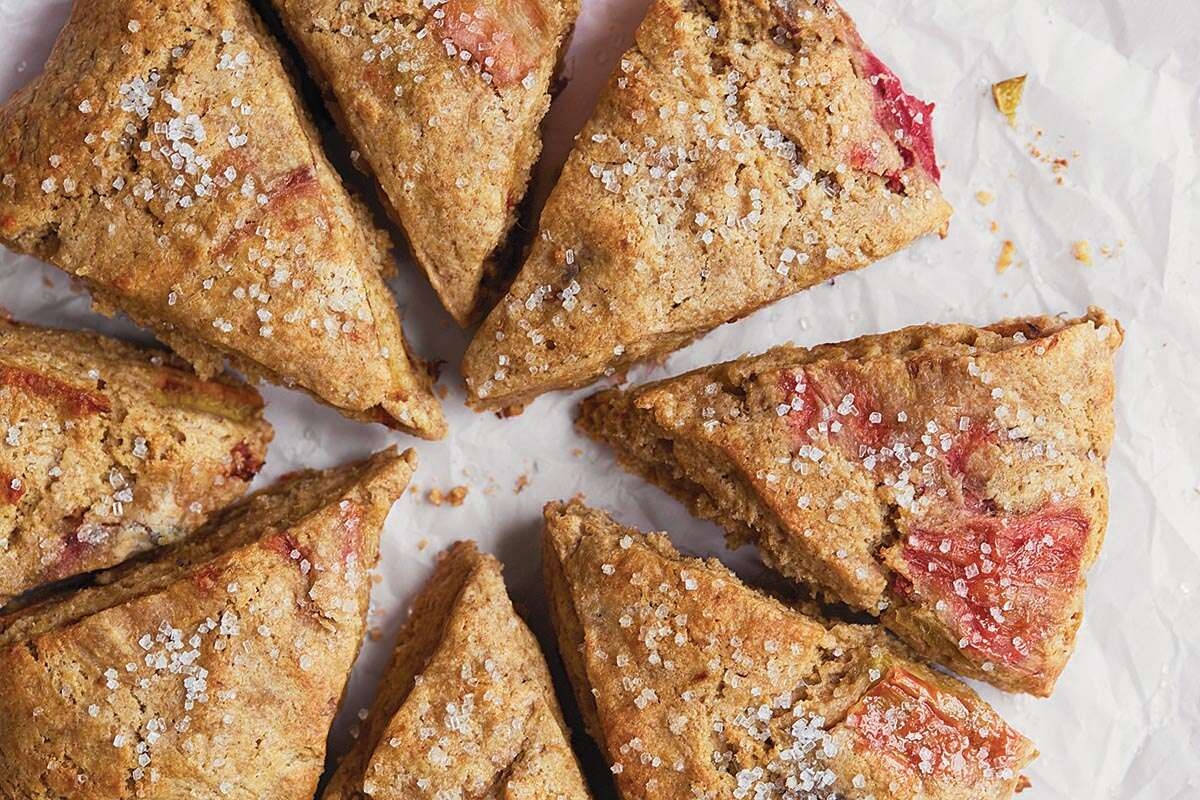 roasted rhubarb scones via @kingarthurflour