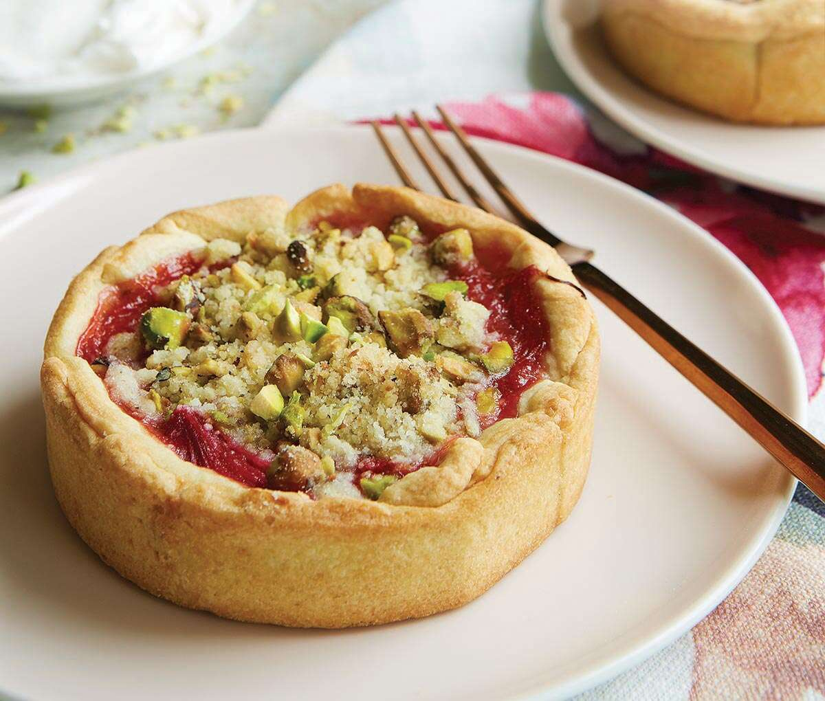 rhubarb tartlets via @kingarthurflour