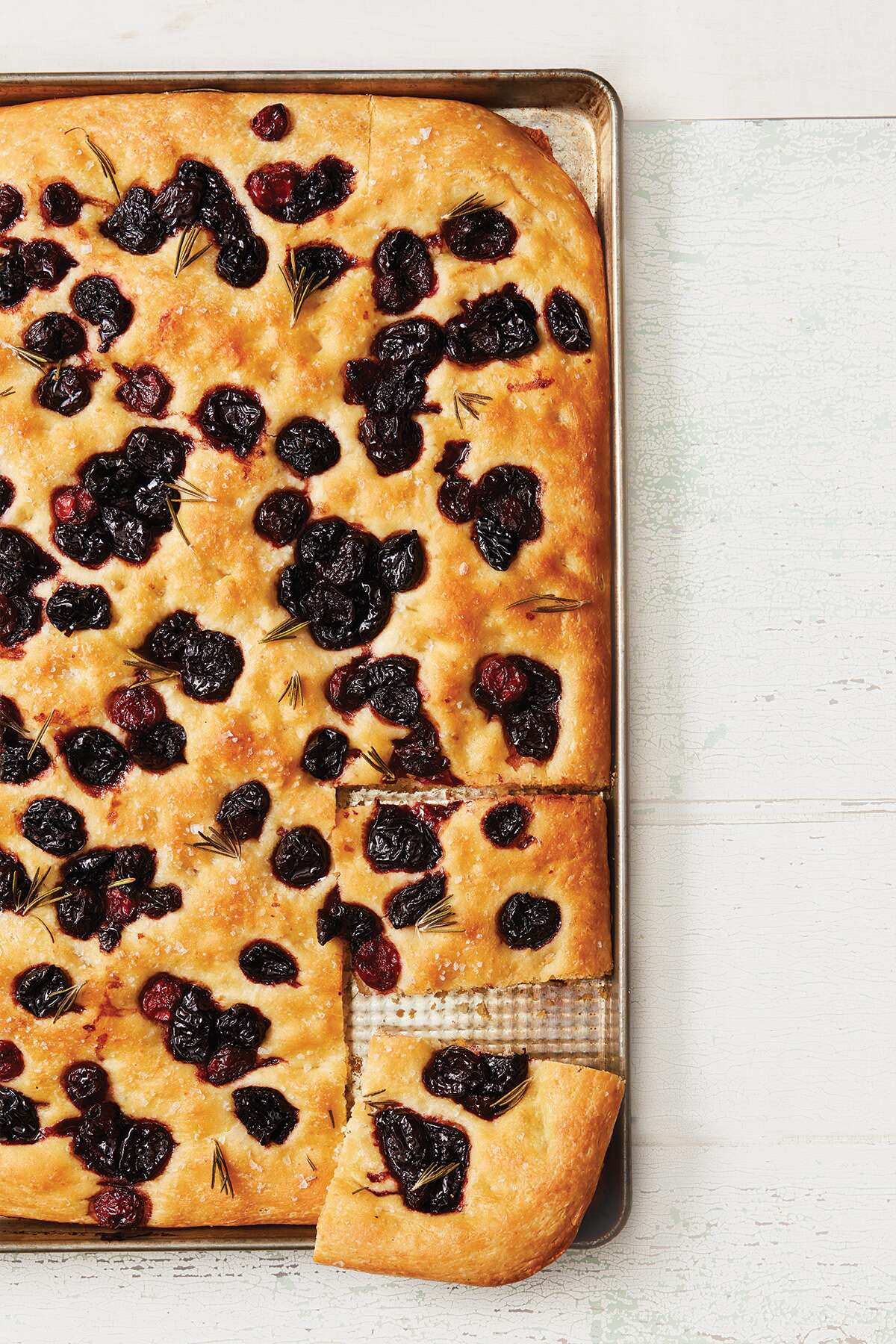 No-Knead Balsamic-Glazed Cherry Focaccia via @kingarthurflour
