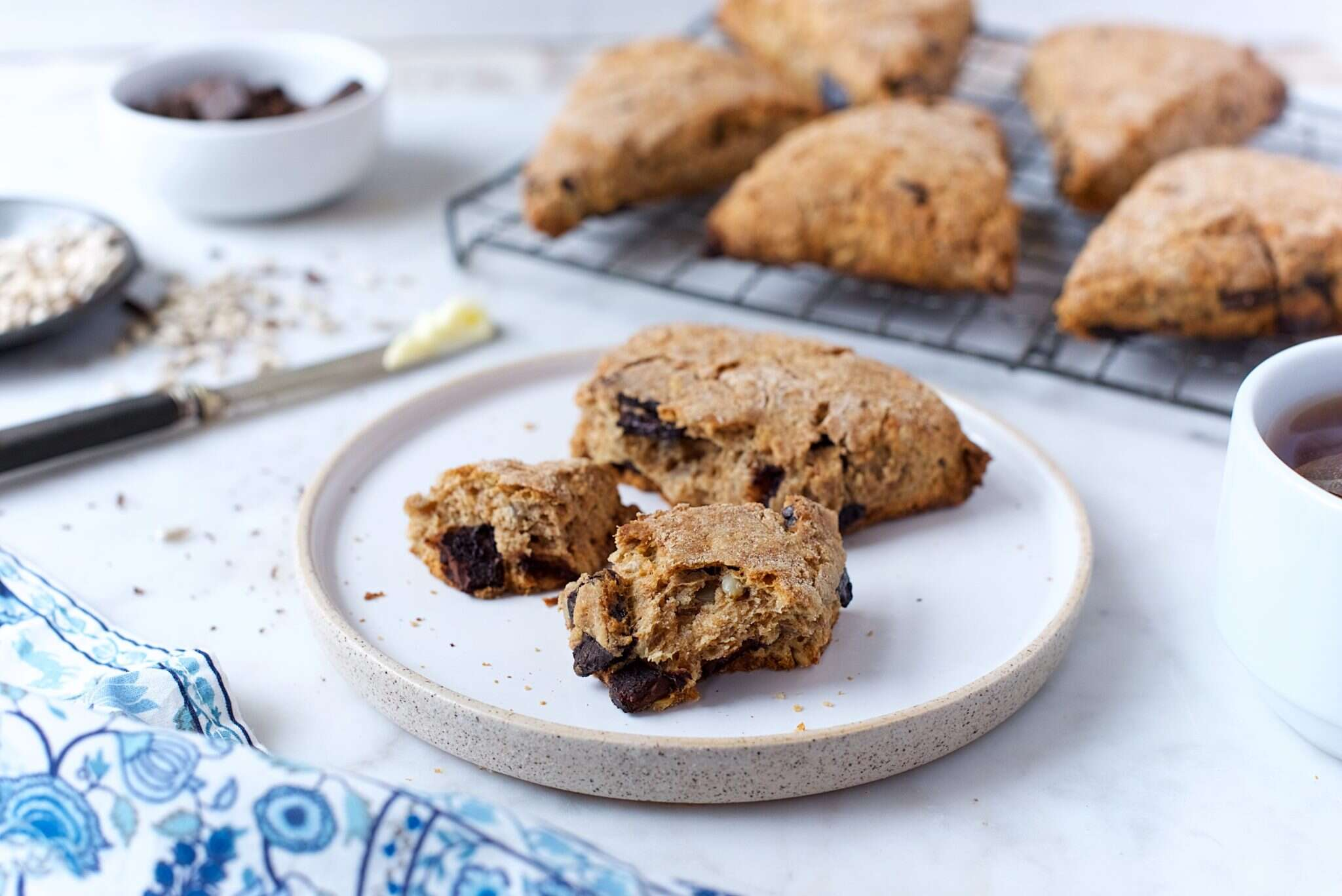 Fresh-milled spelt scones via @kingarthurflour