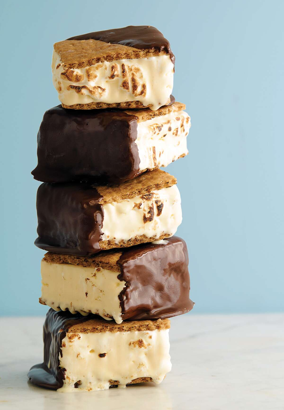 s'mores ice cream sandwiches via @ kingarthurflour