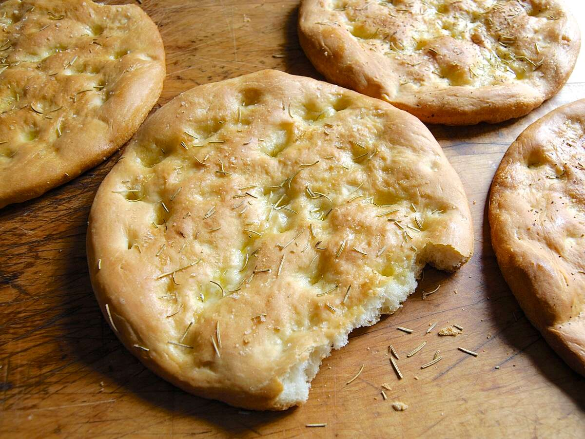 Golden Focaccia Bakealong via @kingarthurflour