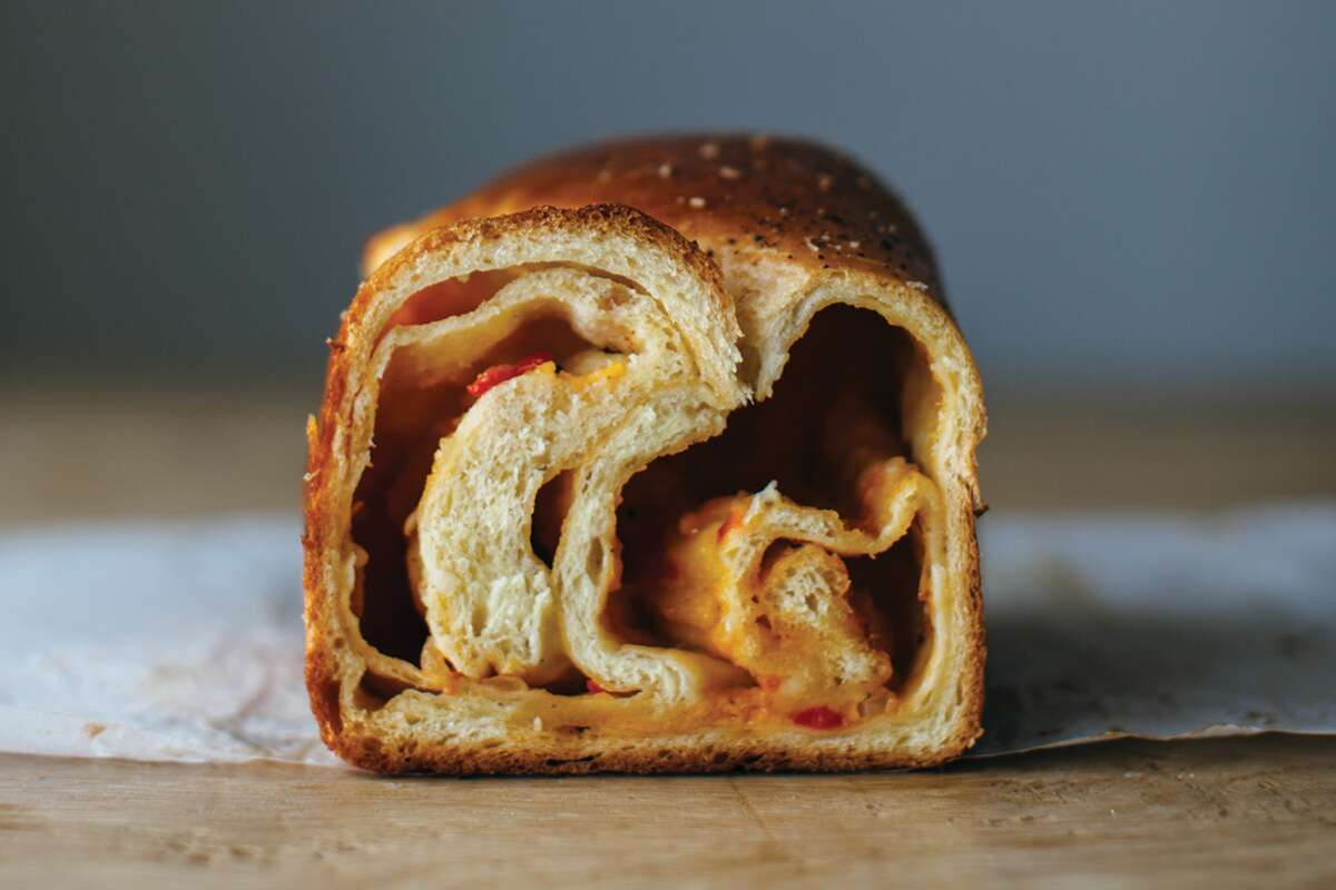 pimento cheese babka via @kingarthurflour
