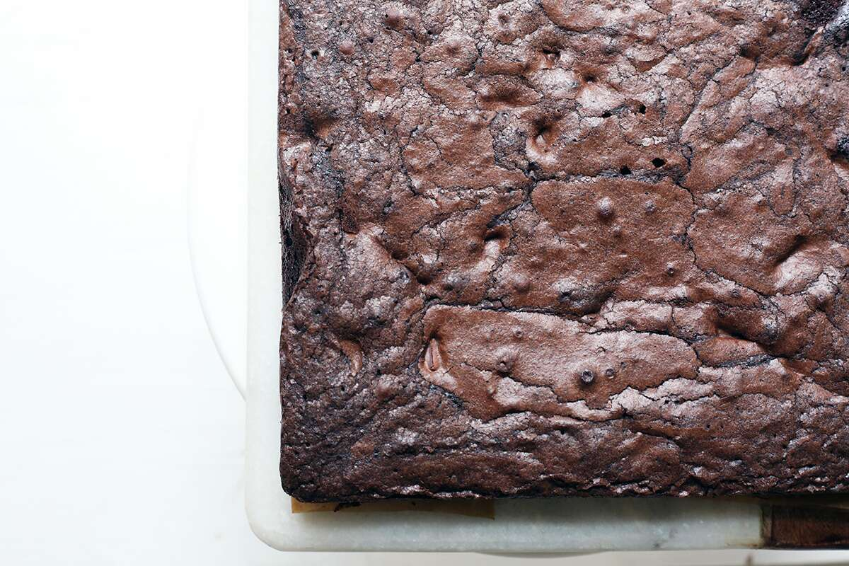Chocolate crunch brownies via @kingarthurflour