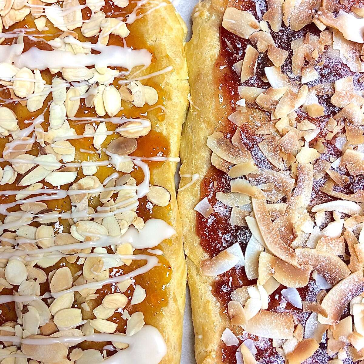 Almond Puff Loaf Bakealong via @kingarthurflour