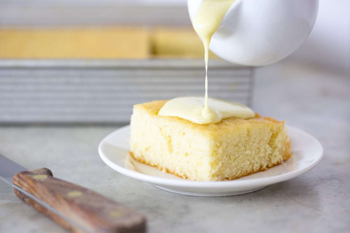 Hot Milk Cake via @kingarthurflour