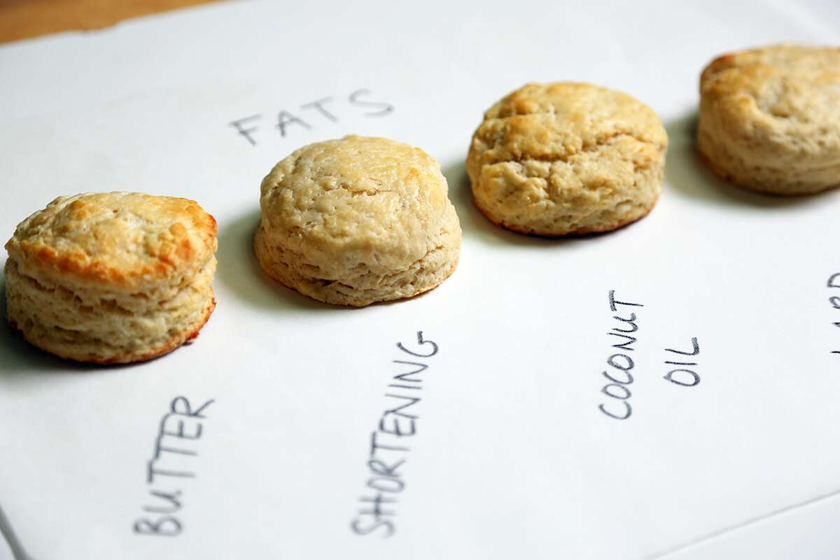 Fats and liquids in biscuits via @kingarthurflour