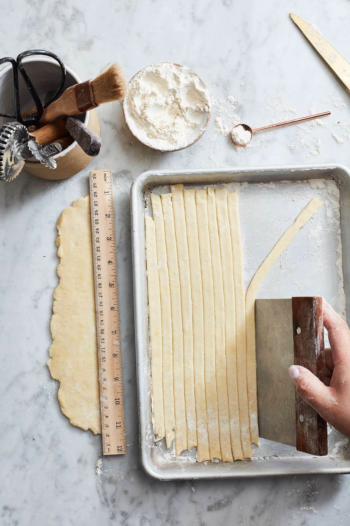 Fancy pie crust via @kingarthurflour