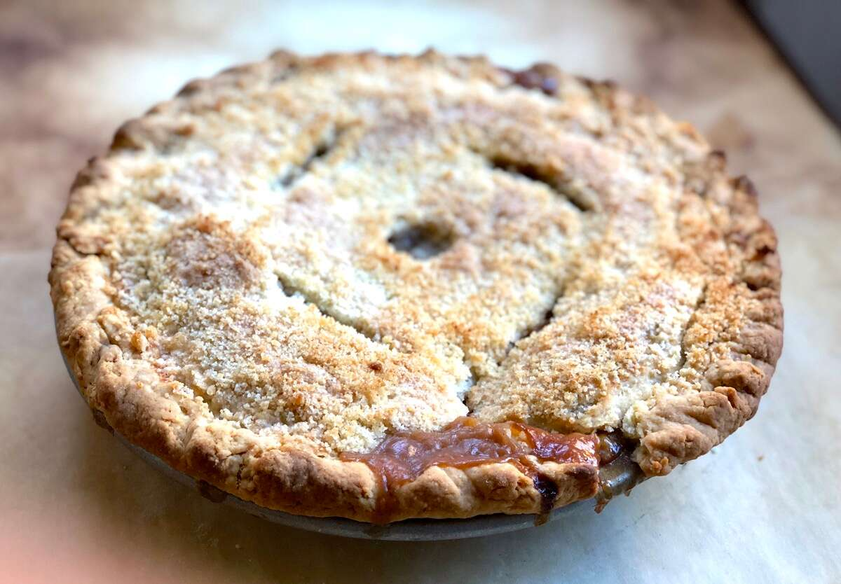 Special apple pie via @kingarthurflour